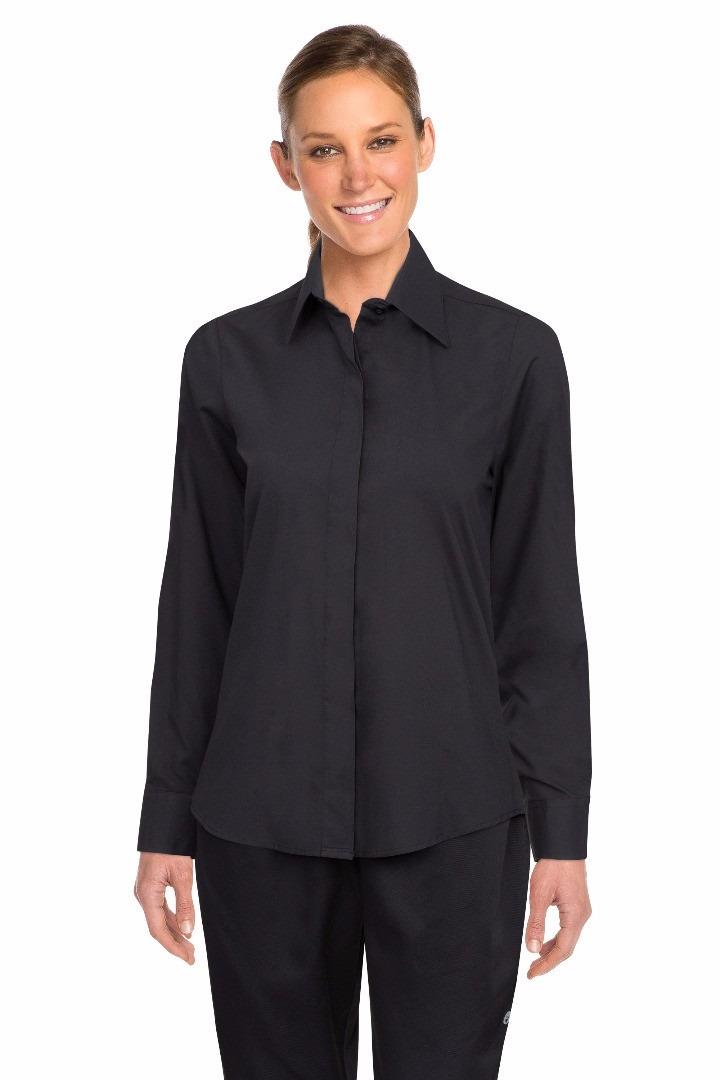 182931640 camisa negra mozo manga larga mujer chefworks chefstore. Cargando zoom.