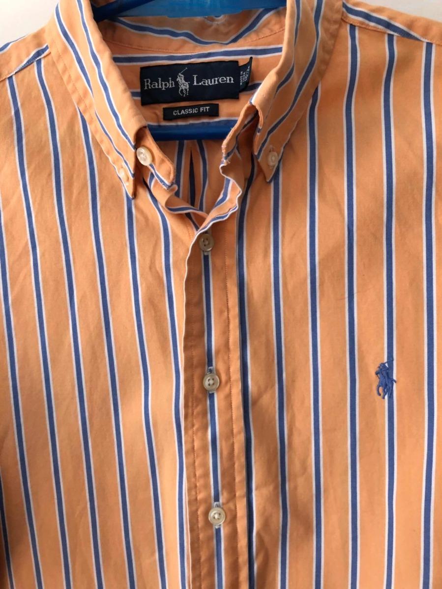 210234187e522 camisa polo original talle l contado naranja y azul. Cargando zoom.