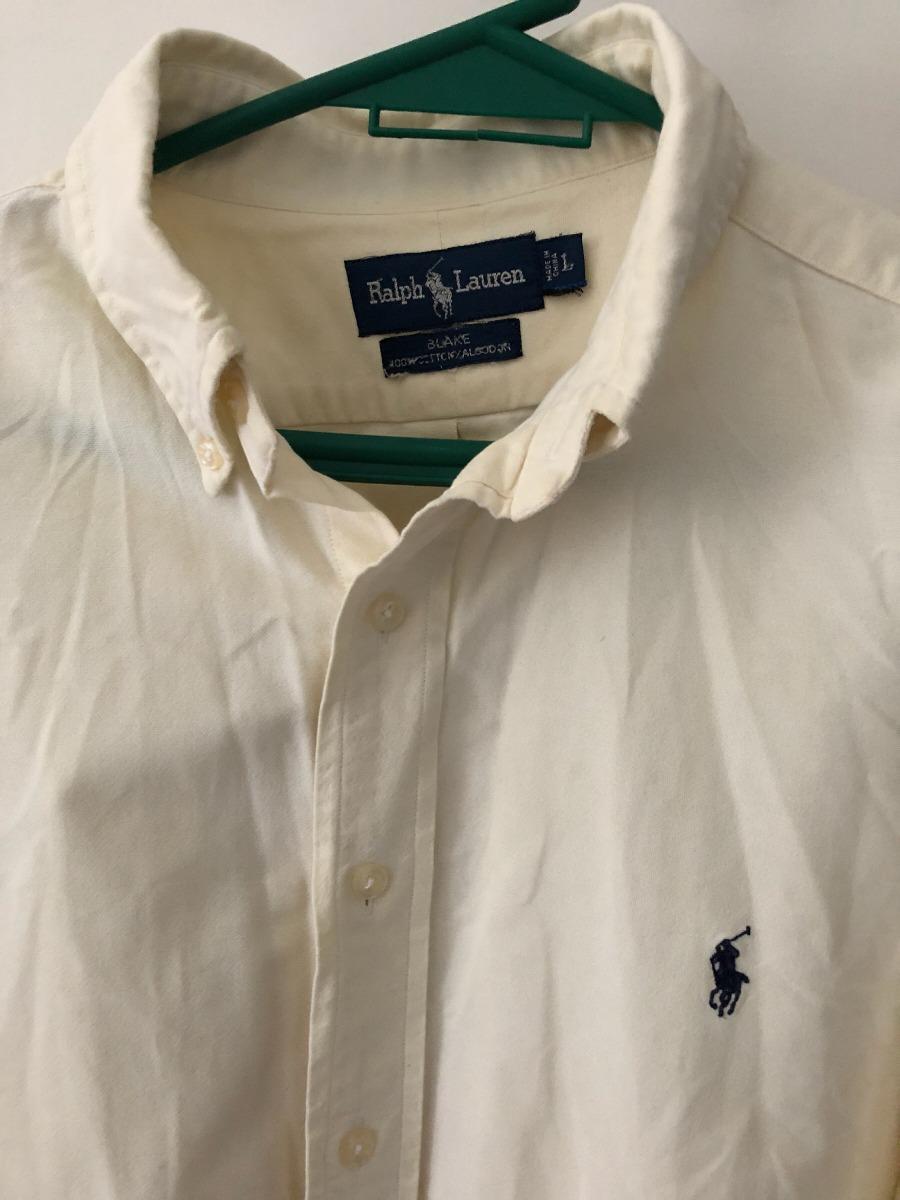 e21bd87090d83 camisa polo ralph lauren original talle l color crema . Cargando zoom.