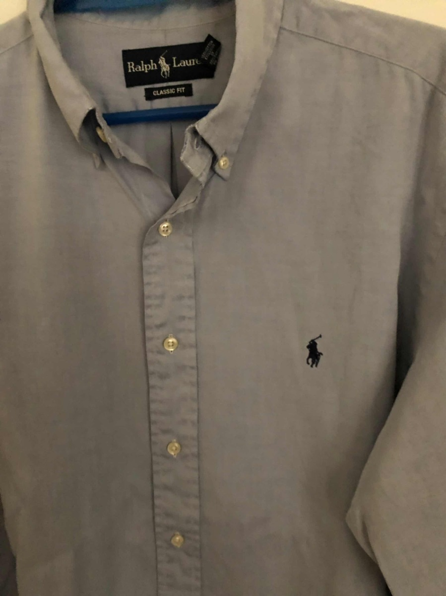b5173106996de camisa polo ralph lauren talle l color celeste contado. Cargando zoom.
