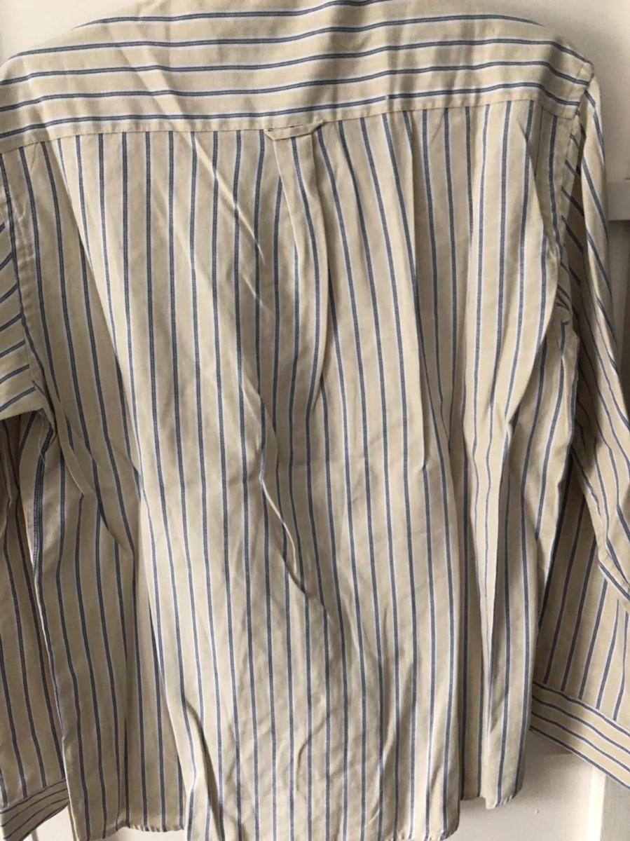 cea0fd0ba3b39 camisa polo ralph lauren talle l original crema con azul. Cargando zoom.