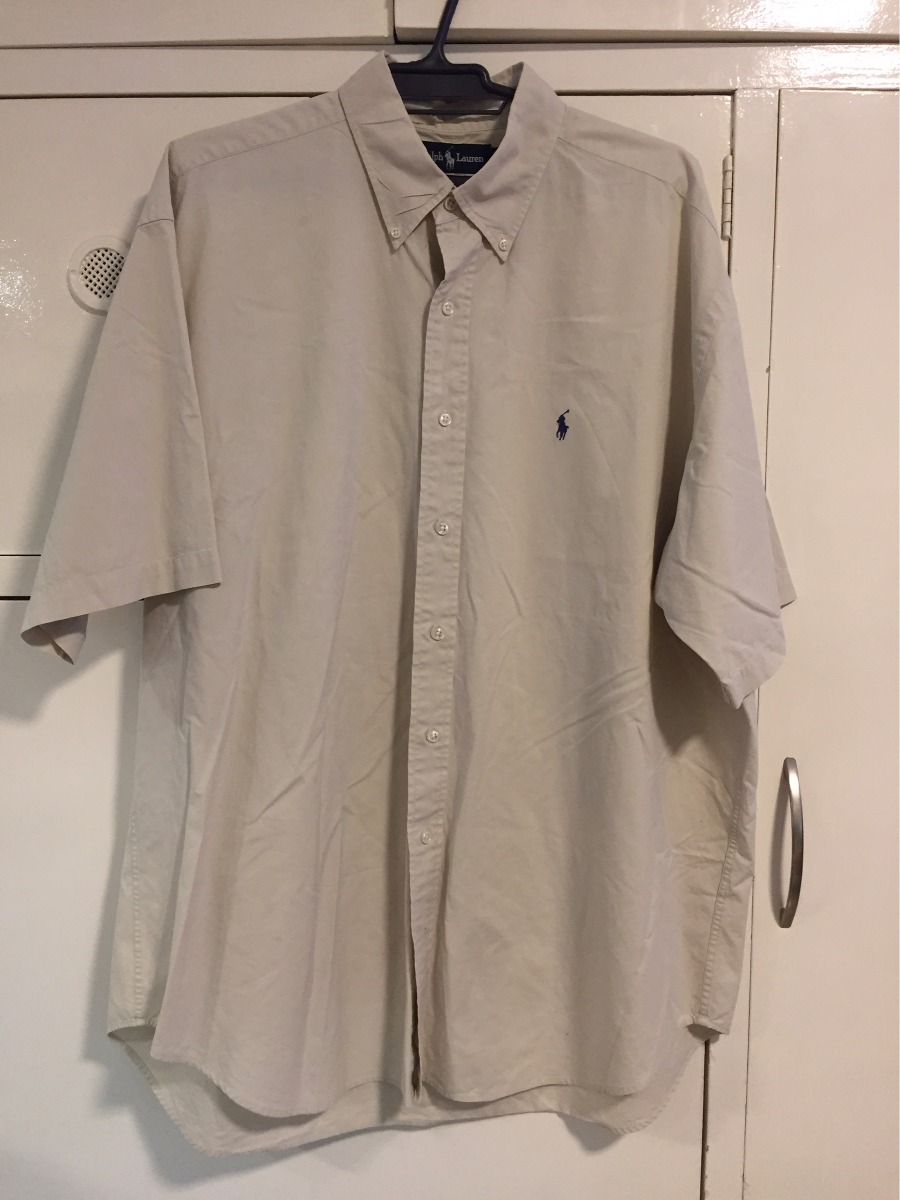 e81aaa8bd8 camisa polo ralph laurent original de usa talle xl beige. Cargando zoom.
