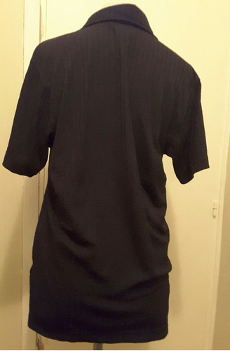camisa remera manga corta negro mujer talle l