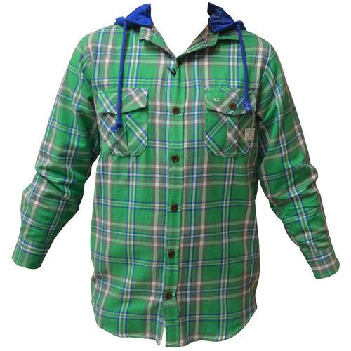 camisa vox abrigada franela con capucha de hombre mvd sport