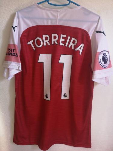 camiseta arsenal 2018/2019. torreira. original.