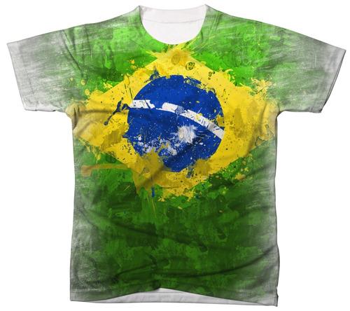camiseta camisa manga curta brasil seleção copa do mundo 03