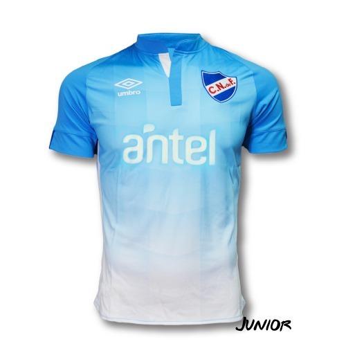 camiseta celeste 2016 niño nacional umbro con sponsos