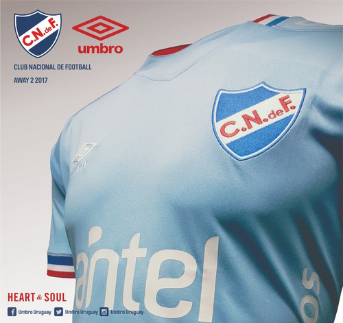 camiseta celeste oficial nacional umbro niños sin sponsors