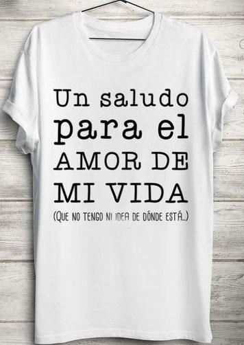 Camiseta De Mujer Personalizada Con Frases