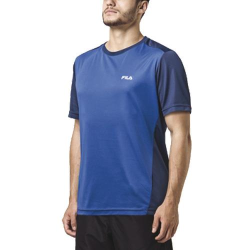 camiseta fila basic light il running training hombre azul.o