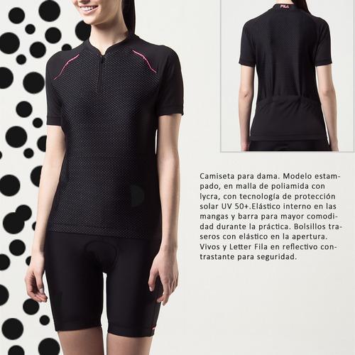camiseta fila bike trip de dama ciclismo bicicleta