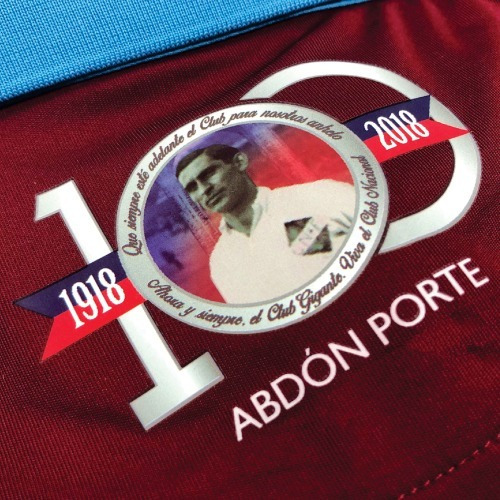 camiseta junior nacional homenaje abdón porte con sponsors