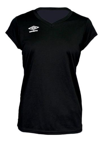 camiseta manga corta de dama umbro running fitness mvd sport