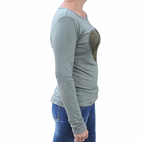 camiseta manga larga con corazón reina urbana