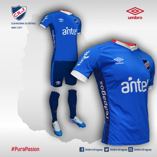 camiseta nacional azul 2017 oficial umbro con sponsors