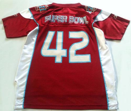 camiseta nfl reebok superbowl 42 patriots giants talle12niño