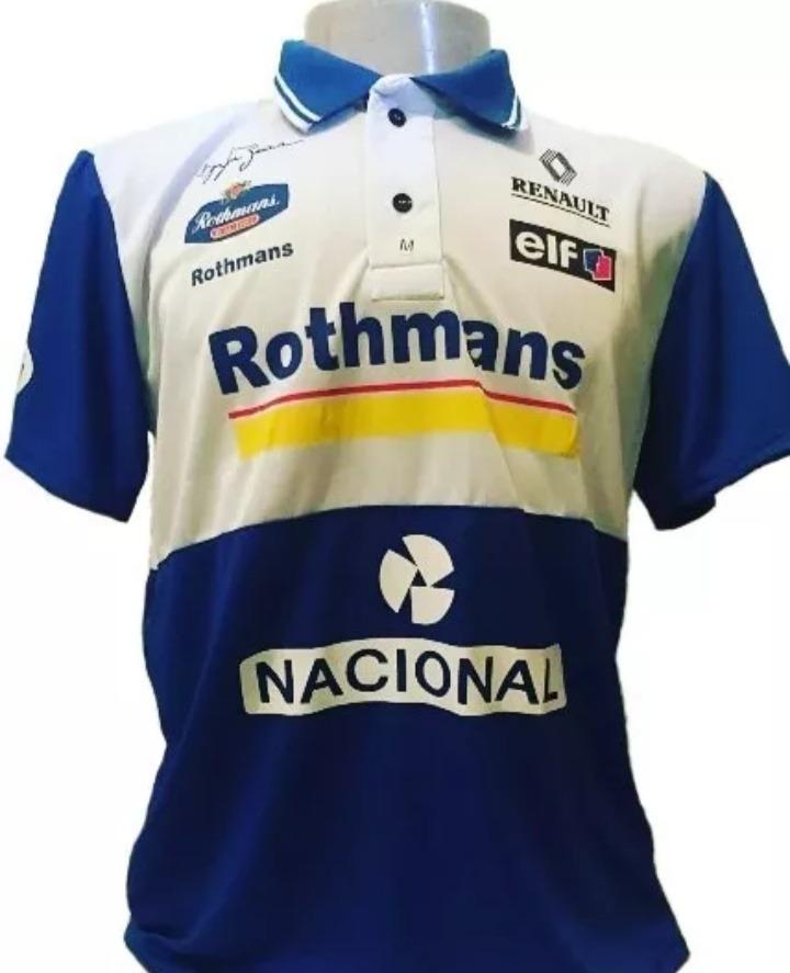 0c26aed8f7 Camiseta Polo Retro Ayrton Senna Williams - $ 2.100,00 en Mercado Libre