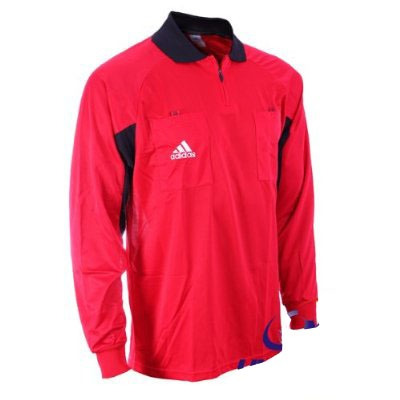 camiseta remera arbitro referí adidas rojo o amarillo m/larg
