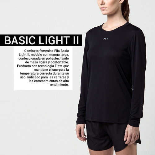camiseta remera fila basic light il de dama running