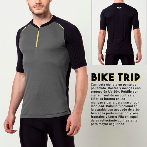 camiseta remera fila bike trip de ciclismo con filtro uv