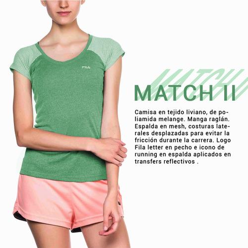 camiseta remera fila match il de dama running deportivo