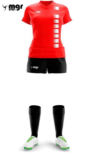 0c3604bdb0187 Camiseta + Short Fútbol Femenino - Mgr Sport Oficial -   590