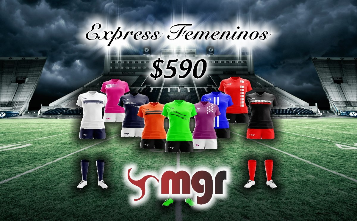 Camiseta + Short Fútbol Femenino - Mgr Sport Oficial -   590 ec78e17986826