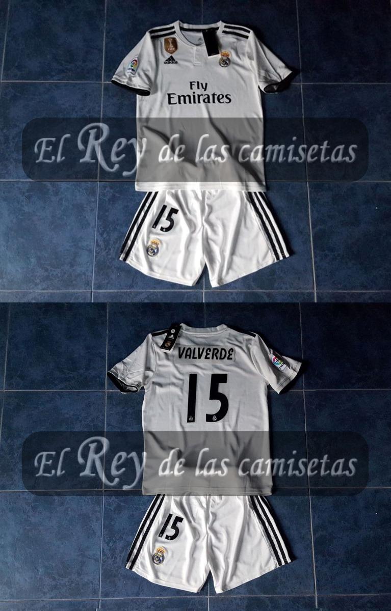Camiseta + Short Niños Real Madrid adidas Original Valverde ... 0ba5072b2e256