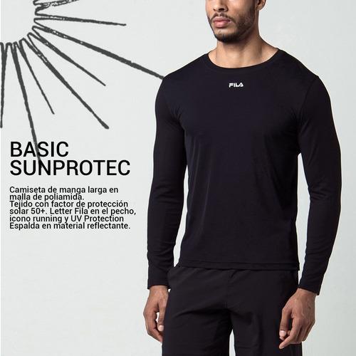 camiseta térmica fila cross manga larga con protección uv