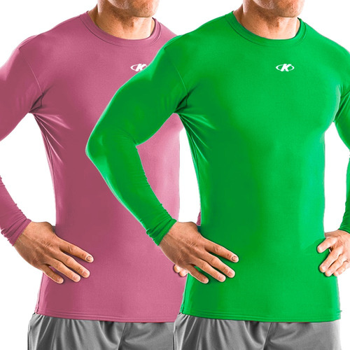 camiseta térmica manga larga running de hombre deportes knex