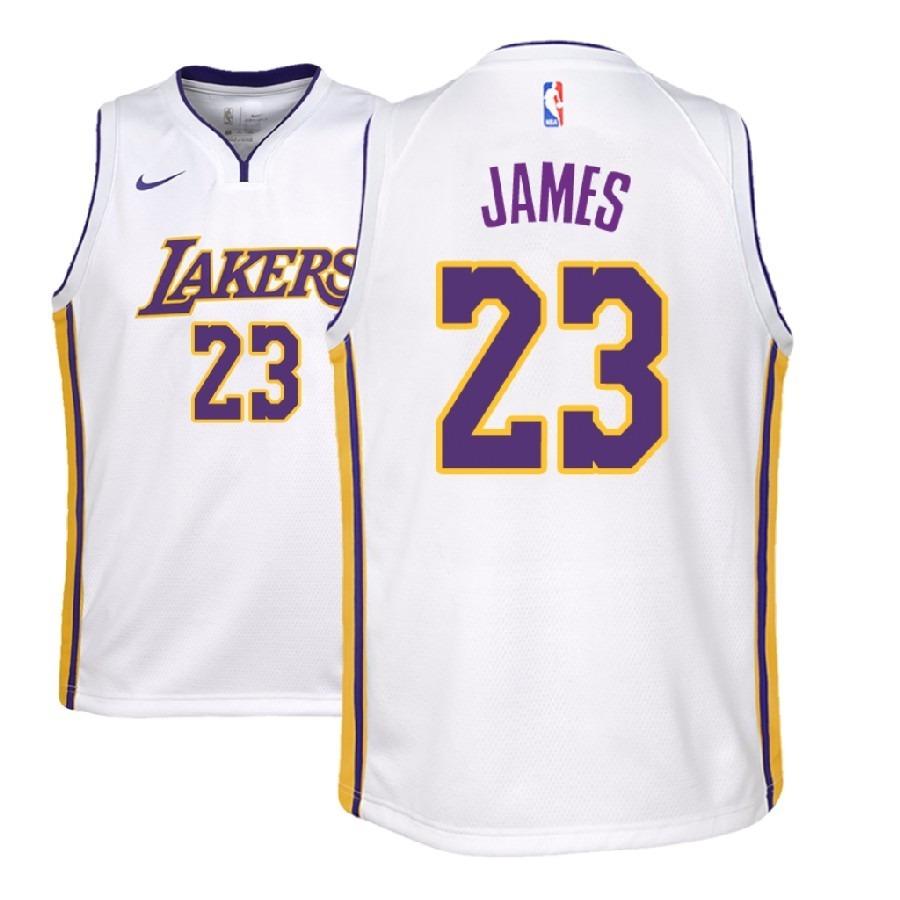 2b3da58b Camiseta White Los Angeles Lakers Lebron James Original - $ 1.990,00 ...