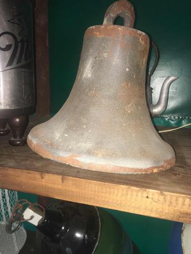 campana antigua hierro 45 x 50 no bronce barcacoa resto