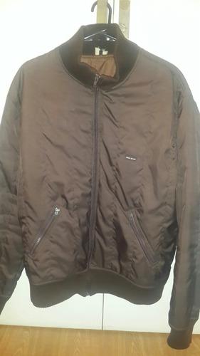 campera abrigo nasa color marron, talle xl.