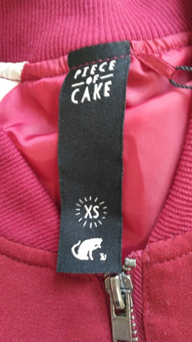 campera bomber piece of cake de daniel cassin nueva sin uso