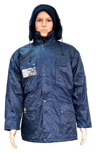 campera de abrigo en nylon y guata, color azul