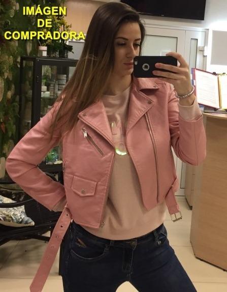 eb243c409c20 Campera De Cuero Chaqueta Para Dama Rosa (por Encargue) -   2.590
