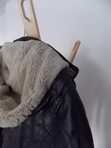 campera de cuero con forro de piel