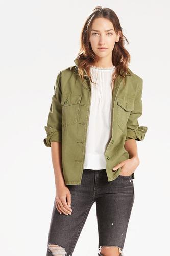 campera levi's® dama army shirt jacket olive
