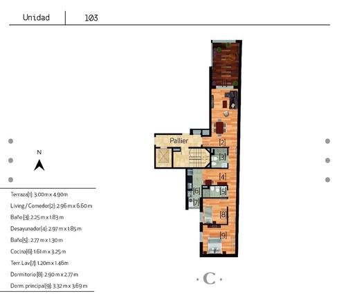 camus. 2 dormitorios. rivera y simon bolivar