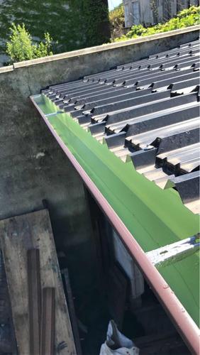 canaletas desagüe canalón techos