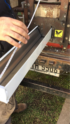 canaletas pluviales desagües en aluminio desagues