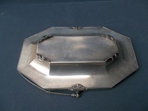 canasta antigua platina sellada epns asa y borde calado