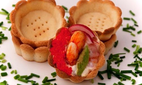 canastitas saladas canapés tarteletas chicas paq. 35 x $70