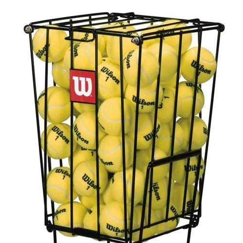 canasto wilson ball para 75 pelotas tenis carro de pelota
