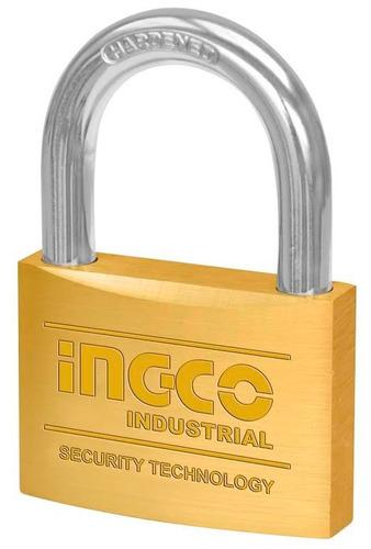 candado seguridad bronce 60mm ingco dbpl0602 industrial ff
