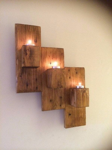 candelabros de pallets