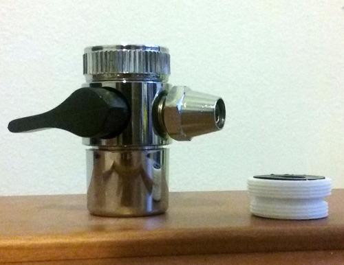 canilla adaptadora de monocomando para purificador de agua