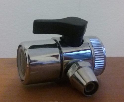 canilla adaptadora de monomando para purificador de agua