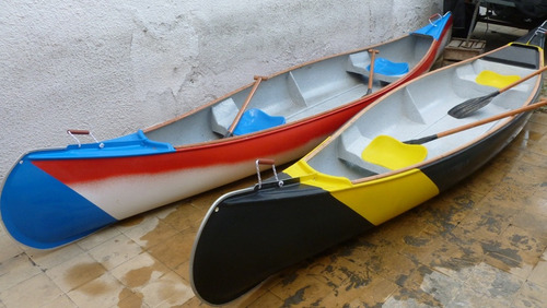 canoas canadienses, 5 m  eslora, 0.90 m de manga   nuevas.