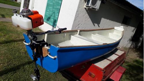 canobote con motor fuera de borda